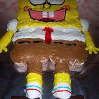 Spongebob Squarepants This is a pull-apart cake. Twinkies for the arms & legs and hohos for the feet.