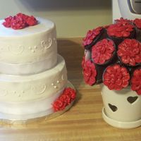 Shana's Bridal Cake And Cupcake Bouquet