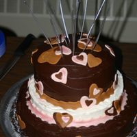 Chocolate Heart Cake Made for my friend'd 40th anniversary.
