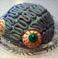 Brain Cake Made for my 12 year old son. Also great for Halloween.