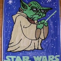 "Yoda Sheet Cake ""Do or do not. There is no try."" - Yoda"