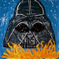 Darth Vader Sheet Cake Great for the Star Wars fan!