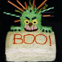 Boo Halloween Cake Very cute for kids Halloween party