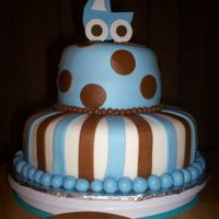 Blue And Brown Baby Shower  I made this for a friend's baby shower. Her nursery is in brown and blue. Its all MMF except for the baby carriage. I made the baby...