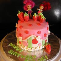 Strawberry Short Cake  This is a French Vanilla 6 in cake with strawberry cream filling. Its is Butter cream with fondant accents except for the strawberry short...