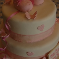 Booties Baby Shower Cake