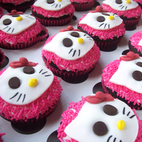 Hello Kity Cupcakes   An army of Hello Kitty cupcakes!