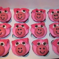 Strawberry Piggy Cupcakes   Strawberry Piggy Cupcakes