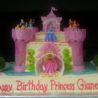 Disney Princesses Castle Cake  This is a vanilla cake w/ dulce de leche filling. First time working with a purchased kit, prefer to have creative liberties on cake orders...