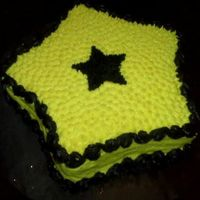 Black & Yellow Star Cake I made this star cake for one of my niece's birthdays.