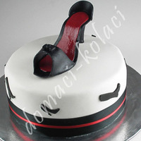 Shoe Cake   this cake customer ordered for his girlfriend, for their anniversary