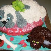 Puppy And Kitten Cake