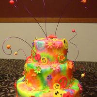 Tie Dye Wedding Cake