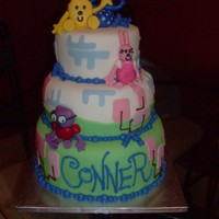 Wow Wow Wubbzy Cake Pineapple cake covered in fondant, all fondant decorations