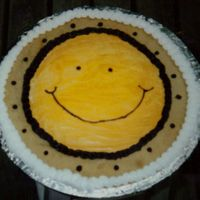 Smiley Face Cookie Cake
