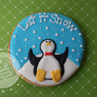 Let It Snow Cookie Sugar cookies decorated with royal icing