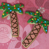 Palm Tree Christmas Cookies Sugar cookies decorated with royal icing