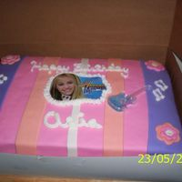 Hannah Montana I made this cake for my cousin's 5th birthday party.
