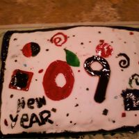 2009 NEW YEARS CAKE whimsical