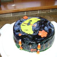 Halloween Cake Hand painted cake. please comment. give me criticism =]