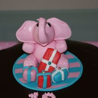 Pink Elephant   My third attempt at an elephant made with fondant (mixed with tylose).