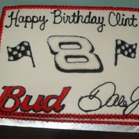 Dale Jr. Cake this was for my hubby's birthday...he is Dale Jr. obsessed!!! It is chocolate fudge cake with oreo pudding filling...yum!