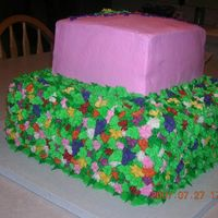 Side View Of Flower Cake