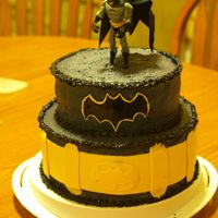 Batman! Made with butter cream and topped with fondant decor, this cake was made for a good friend's birthday.