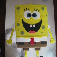 Spongebob Cake Red velvet cake w/cream chese icing underneath fondant. Thanks for looking!