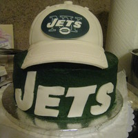 New York Jets Cake I made this cake for my husband for Father's Day...he is a die hard Jets fan and I wanted to do something special. This is my first...