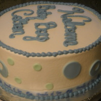 Ten Inch Round Baby Shower Cake