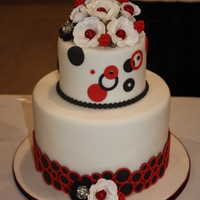 Black And Red Contemporary Wedding Cake