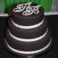 B&w Wedding Cake 2010