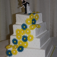 Melanie And Rory's Wedding Cake