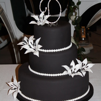 Wedding Cake 2010 B&w