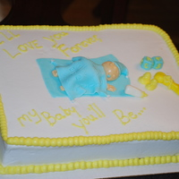 Baby Boy Baby Shower Cake   This was my first attempt at modeling a human figure. This was so much fun!