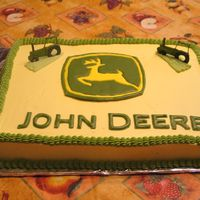 Color Flow John Deere With Mini Color Flow Tractors   This is my 2 year old sons birthday cake. He loves John deere.
