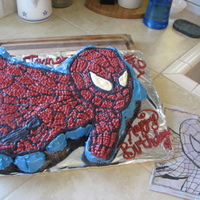 James's Spider-Man  This was made all out of cupcakes and filled with my own creation of a raspberry jam filling. My nephew James didn't really like the...
