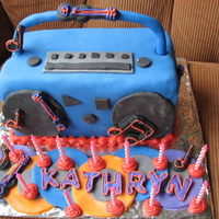 Kathryn's 13Th  This was such a fun cake for my niece Kathryn. We threw a suprise rock n' roll party for her 13th. I got this idea from a wilton book...