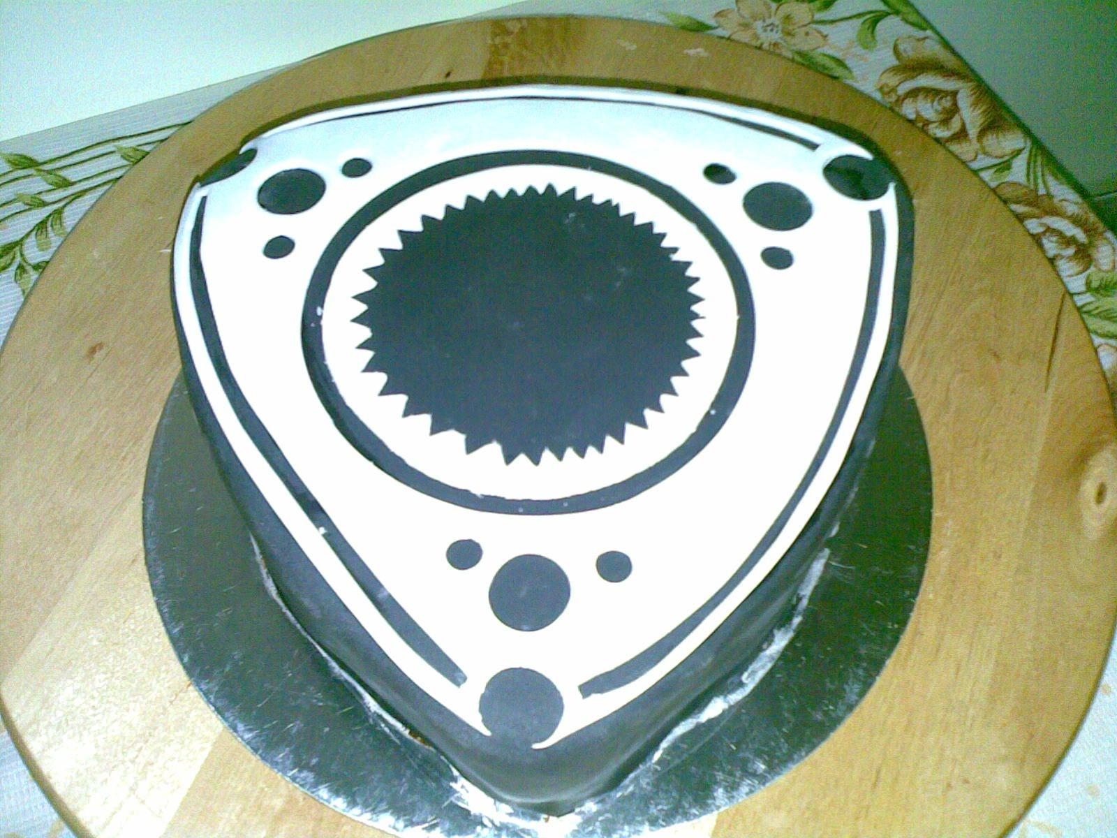 Mazda rx7 on rotary symbol cake cake gallery on cake central mazda rx7 on rotary symbol cake biocorpaavc Choice Image
