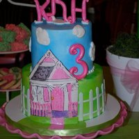 Playhouse Cake Cake for little girl turning three who was getting a playhouse as a gift. Her mother went with that as the theme of the party. I was given...