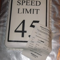 Speed Limit Birthday Cake I made this for a male coworker that just turned 50. The ticket was for doing 50 in a 45. Info blocked out on the ticket to protect the...