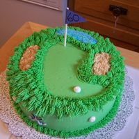 Golf   Made for my Boss' 60th. Sand traps are crushed up crackers.