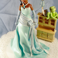 Princess And The Frog i love this princess i was insipired by the movie, made out of fondant everything is edible except the dresser enjoy