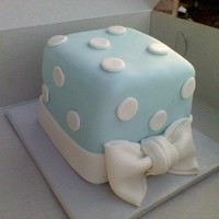 Light Blue Mini Polka Dot Cake