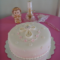 Christening In Pink Thanks to berni611 for her beautiful cake. I know mine looks nothing like hers but my client really loved your cake. I couldn't get...