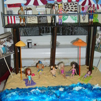 Under The Boardwalk Birthday Cake   this is a under the boardwalk themed cake for my brothers group of friends 50th birthday party