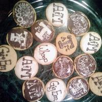A&m Cookies!  These are some cookies I made for my Dad's graduation party for the masters program. They are just store bought icing and cookies but...