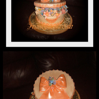 Hat Box Carrot cake with cream cheese filling