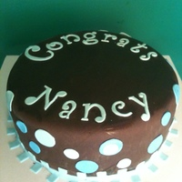 Chocolate Fondant Cake Nice, simple, fondant iced cake to congratulate a graduation.